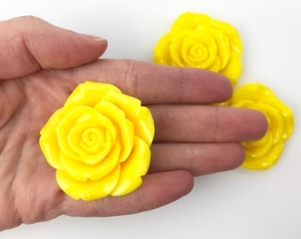 Resin Rose Bead - Large Flower Rose - Resin Bead - Flower Bead - Rose Bead - Jewelry Supplies - 42mm - 1 Bead