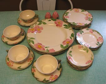 Franciscan Desert Rose Service for Four (4) Vintage Dinnerware and Replacements Made in California