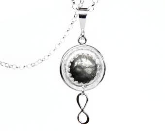Sterling Silver Infinity Necklace - Rutilated Quartz
