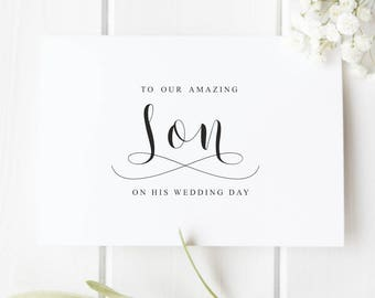 Son wedding card Wedding card for Son Wedding Card from Parents