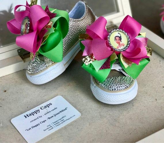 Princess Tiana Shoes: Princess TIANA SHOES BLINGED Converse Tiana Birthday