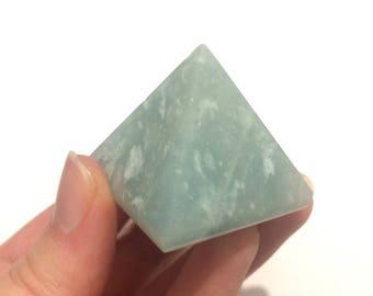 Amazonite pyramid polished point small