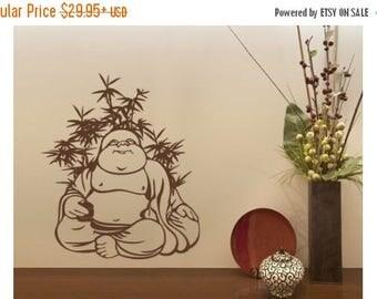 20% OFF Summer Sale Quite Buddha wall decal, sticker, mural, vinyl wall art