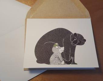 Big Bear Little Bear Folded notecard 10 pack