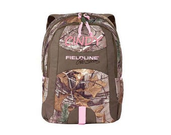 Fieldline Pink Camo Backpack - Personalized