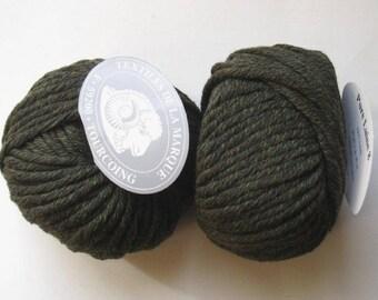 5 big skeins Pure wool N 8 khaki 2 tone 27