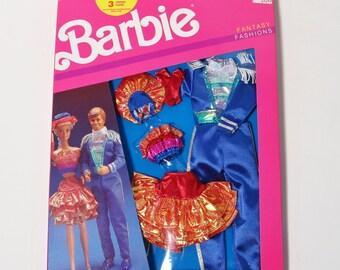 Vintage Mattel 1989 Barbie & Ken Fantasy Fashions Party Set - New in box