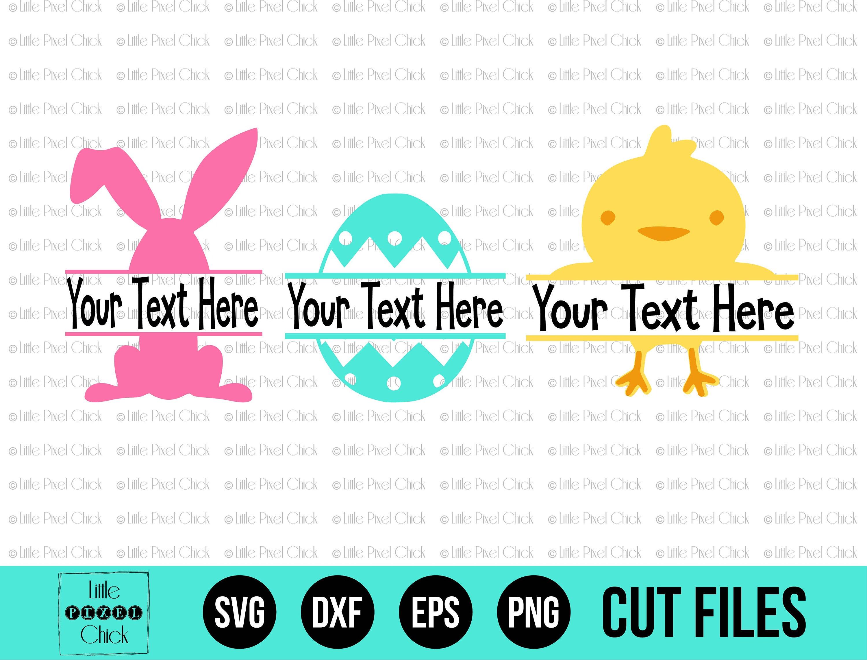 Download Easter SVG - Easter Cut File - Split Monogram - Cricut Cut ...