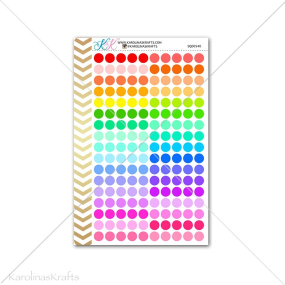 Small Dot Circle Stickers for your planner, agenda, calendar and more! Functional planner stickers to help organize your life #SQ00540