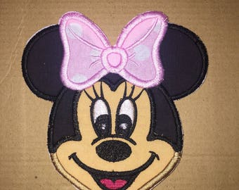Minnie Mouse face patch