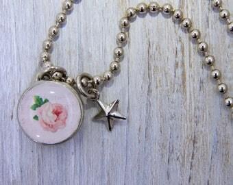 Girls Rose Necklace, Girls Necklaces, Girls Bracelet, Rose Charm, Kids Jewelry, Kids Necklaces, Kids Bracelets, Interchangeable jewelry