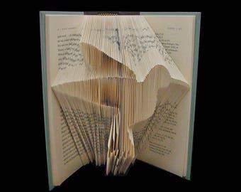 Hummingbird | Bird | Avian | Ornithology | Folded Book Art Sculpture