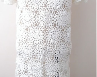 Cream Handmade crochet Dress