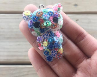 Clay filled flower bear