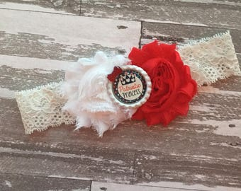 Fourth of July Headband - 4th of July Hair Bow - July 4th Hair Headband- July 4Th bow- Fourth of July Bow