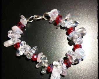 pink and red crystal bracelet