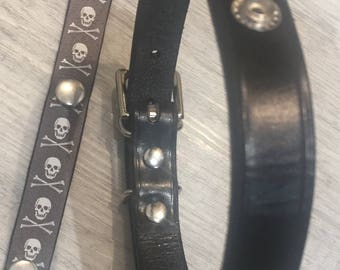 Leather Dog Collar. Hand Crafted in UK