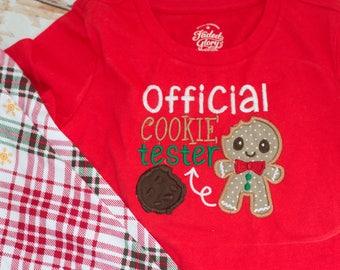 Christmas Cookie Taster Shirt Christmas Eve with Christmas Leggings