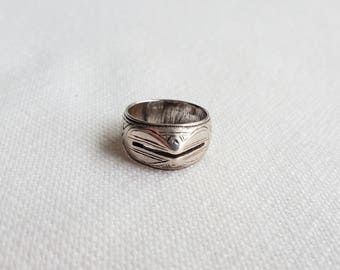 old and fine south morocco / sahrawi silver ring