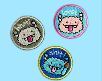 Bibi Funny Monster Iron-On Patch