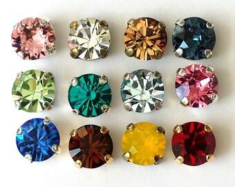 Swarovski Crystal Stud Earrings Choose Your Color Swarovski Crystal Earrings Crystal Post Earrings Bridesmaid Jewelry Wedding Stud Earrings