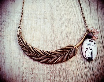 "Necklace ""Osiris and her pen"""