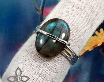 Labradorite Ring, Labradorite Stone Ring, Labradorite Jewellery, 925 Silver Ring, Designer Ring, Wedding Ring, Unique Ring, Gift For Her