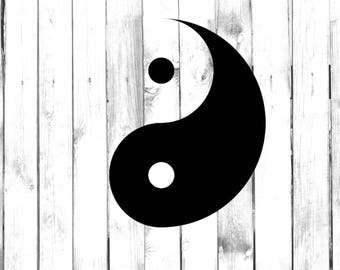 Sleek Yin Yang Symbol - Yeti/Tumbler/Car/Truck/Home/Laptop/Computer/Phone Decal