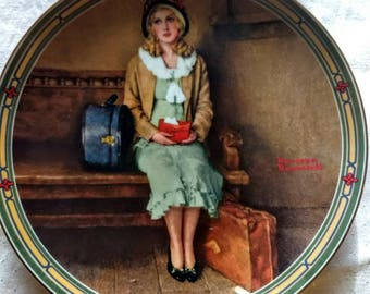 """Norman Rockwell """"Young Girl's Dream"""" Limited Edition Collector Plate; Edwin Knowles; American Dream collection; 1985"""