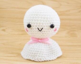 Crochet Toy Amigurumi - Teru Teru Bozu  -- plush for home decor