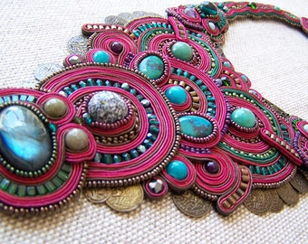 "Necklace ""Indian Dream"" couture"