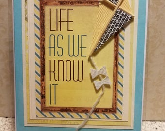 "Handmade Card ""Life As We Know It"""