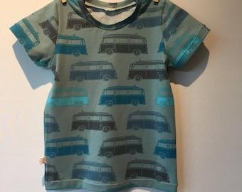 T-shirt with large retro vans, mt 110, 3/4 jr