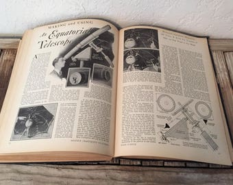 Vintage Book Titled Amateur Craftsman's Cyclopedia of Things To Make Popular Science