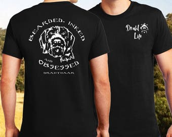 """Draht Life """"Bearded, Inked and Obsessed"""" short sleeve t-shirt."""