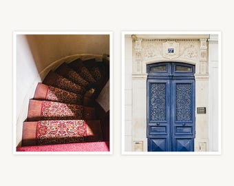 """France Travel Photography, """"Parisian Apartment Details"""", Set of 2 Fine Art Prints, Gallery Wall, Home Decor, Gift"""