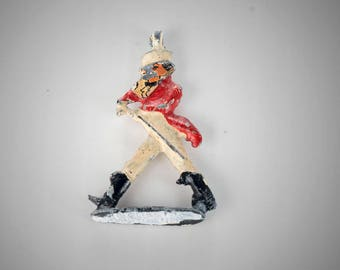 painted lead figure dandy in red coat charm