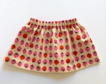 STRAWBERRY // strawberry skirt // baby and toddler skirt