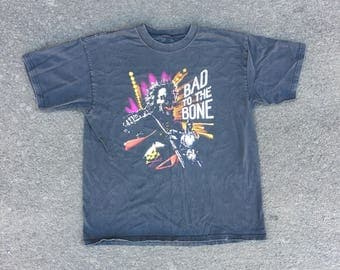 VTG  90s Biker T-Shirt - Large - Bad to the Bone - Badass - Motorcycle Shirt - Vintage Tee - Vintage Clothing -