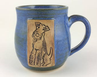 Blue Airedale Terrier Mug