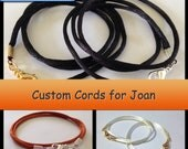 RESERVED LISTING for Joan ~ Satin Necklace Cords Double Strand 2mm Custom Cord ~ Made to Order ~ Handmade in USA