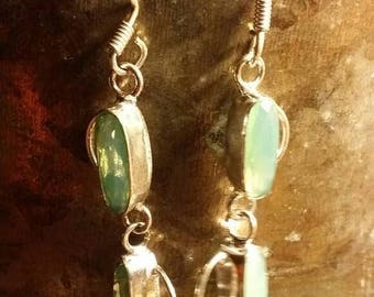 """Holiday SALE 85 % OFF Sale Aventurine Coupon  """"GIVEAWAY75 """"  Earrings Gemstone  .925 Sterling  Silver"""