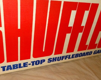 1969 Shuffles by Aurora. Tabletop Shuffleboard Game. MINT - Old Store Stock