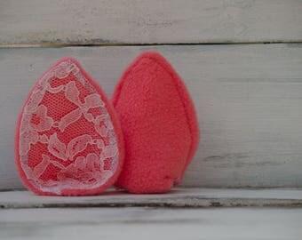 Pink  Lace cat small animal ears\ Cosplay ears\READY TO SHIP\ kawaii ears\ pony ears\ cat ears\ fox ears\ luxury soft fleece\ ears