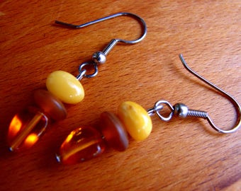 3573 -  Earrings Amber