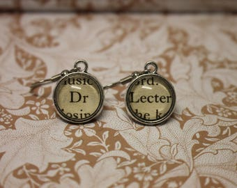 Dr Lecter Earrings ~ Hannibal Lecter ~ Thomas Harris ~