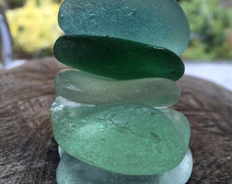 Gorgeous Chunky Stackers of Scottish Sea Glass SG 29.7.17.4