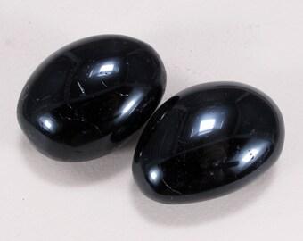2pcs BLACK TOURMALINE Mineral palm stone 127 gpams specimen #17-132
