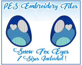 PES Snow Fox Eyes embroidery files Instant Download (JEF included)
