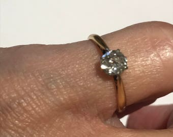 A 0.5ct Old European Cut Diamond Ring